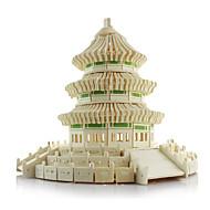 3D-puslespil / Puslespil / Modelbyggesæt Berømt bygning / Kinesisk arkitektur / Himlens tempel Simulering Træ Børne / Voksne Unisex Gave