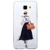 Недорогие Чехлы и кейсы для Galaxy А-Кейс для Назначение SSamsung Galaxy A5(2017) A3(2017) IMD Прозрачный С узором Кейс на заднюю панель Соблазнительная девушка Мягкий ТПУ для