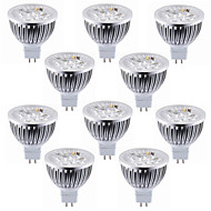 voordelige LED-spotlampen-10pcs 5.5w mr16 (gu5.3) led spotlight 4 high power led warm / cool wit led spotlight lamp led lamp dc12v