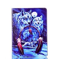 Для samsung galaxy tab 9.7 a 7.0 e 9.6 крышка случая волк шаблон карта стент pu материал плоский защитный кожух