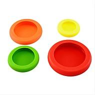 4pcs / set 야채 과일 huggers 플라스틱 다채로운 음식 huggers 귀하의 음식 안전 신선한 부엌 도구 ramdon 색상을 유지하려면