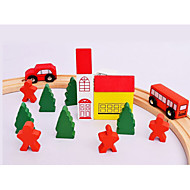 voordelige Speelgoed & Hobby's-Bouwblokken Educatief speelgoed Speelgoedauto's Speeltjes Automatisch Huis Bus Kinderen Stuks