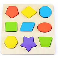 preiswerte Spielzeuge & Spiele-Bausteine Steckpuzzles Holzmodelle Spielzeuge Quadratisch Kreisförmig Stern Kinder 1 Stücke