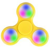 Fidget Spinners Przędzarka ręczna Zabawki Tri-Spinner LED Spinner Tworzywo sztuczne EDCLampka LED Stres i niepokój Relief Zabawki