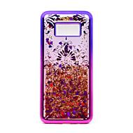 Недорогие Чехлы и кейсы для Galaxy S8 Plus-Кейс для Назначение SSamsung Galaxy S8 Plus S8 Покрытие Движущаяся жидкость С узором Кейс на заднюю панель Сияние и блеск Кружева Печать