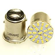 Sencart 2 x 1157 ba15d p21 / 5w 22x3014smd conduziu auto auto lado da cauda luzes indicadoras estacionamento lâmpada bulbo whitedc12v