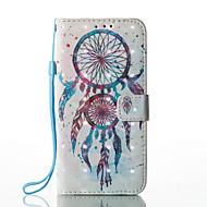 Недорогие Чехлы и кейсы для Galaxy S8 Plus-Кейс для Назначение SSamsung Galaxy S8 Plus S8 Бумажник для карт Кошелек со стендом Флип Магнитный С узором Чехол Ловец снов Твердый Кожа