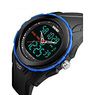 Недорогие Фирменные часы-SKMEI Муж. Цифровой Наручные часы Спортивные часы Будильник Календарь Защита от влаги Хронометр С двумя часовыми поясами ЖК экран Pезина