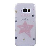 voordelige Galaxy S7 Hoesjes / covers-hoesje Voor Samsung Galaxy S8 Plus S8 IMD Patroon Achterkantje Woord / tekst Glitterglans Zacht TPU voor S8 S8 Plus S7 edge S7 S6 edge S6