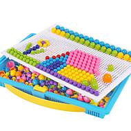 296PCS Mosaic Kits Novelty DIY Mushroom Nail Beads Assembly Set with Pegboard Flashboard Box 3D Mosaic Puzzle Kid Education Toy Kit