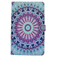 For Samsung Galaxy Tab T580 T560 Mandala Painted Pattern PU Leather Material Flat Protective Cover Case for T550 T530 T350 T280
