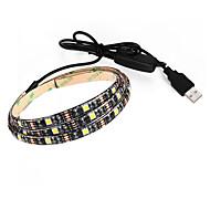 3.5 LED-es szalagfények 250 lm DC5 V 0.9 m 27 led Meleg fehér Fehér
