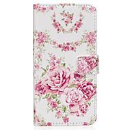 Недорогие Чехлы и кейсы для Galaxy S6 Edge Plus-Кейс для Назначение SSamsung Galaxy S8 Plus S8 Бумажник для карт Кошелек со стендом Флип Магнитный С узором Чехол Цветы Твердый Кожа PU