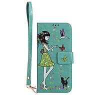 Для samsung galaxy s8 plus s8 phone case pu кожаный материал женщина и кошка шаблон светящийся корпус телефона s7 край s7 s6 край s6 s5 s4
