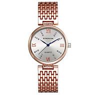 KINGNUOS 여성용 패션 시계 손목 시계 독특한 창조적 인 시계 캐쥬얼 시계 석영 합금 밴드 참 우아한 멋진 캐쥬얼 창의적 럭셔리 실버 골드 로즈 골드