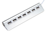 Usb 2.0 7 portas / interface usb hub aluminium