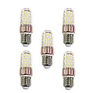 お買い得  LED コーン型電球-5個 9W 600lm E27 LEDコーン型電球 T 60 LEDビーズ SMD 2835 温白色 / ホワイト 220-240V