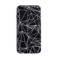 Недорогие Кейсы для iPhone 8-Назначение iPhone X iPhone 8 Чехлы панели С узором Задняя крышка Кейс для Плитка Полосы / волосы Геометрический рисунок Мягкий