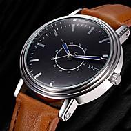povoljno -YAZOLE Muškarci Modni sat Ručni satovi s mehanizmom za navijanje Casual sat Kvarc Koža Grupa Cool Neformalno Elegantno Crna Smeđa
