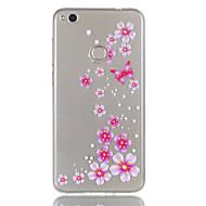 Для huawei p8 lite (2017) p9 lite phone case tpu материал бабочка цветы модель рельеф телефон чехол p8 lite