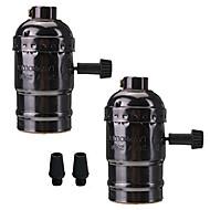 abordables Bases de Lámpara-2 piezas e26 / e27 socket screw bulbs edison retro titular de la lámpara colgante con interruptor 100-240v para lámpara o accesorio de reemplazo diy proyectos