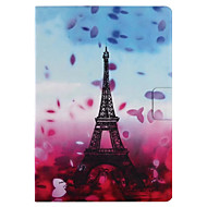 cheap iPad  Cases / Covers-Case For Apple iPad 4/3/2 iPad Air 2 iPad Air Card Holder with Stand Flip Pattern Smart Touch Full Body Cases Flower Eiffel Tower Hard PU