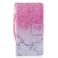 Для samsung galaxy a3 a5 (2017) чехол для случая с мраморным розовым песочным рисунком окрашенный pu кожа материал карта стент кошелек
