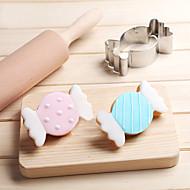 お買い得  キッチン用小物-クリスマスキャンディー砂糖クッキーカッターステンレスケーキ金型メタルベーキングツール