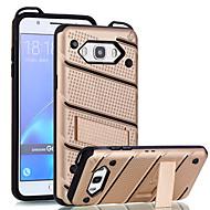 Недорогие Чехлы и кейсы для Galaxy J7(2016)-Кейс для Назначение SSamsung Galaxy J7 Prime J5 Prime Защита от удара со стендом Кейс на заднюю панель Сплошной цвет Твердый ПК для