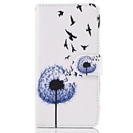 Недорогие Чехлы и кейсы для Galaxy A5(2017)-Кейс для Назначение SSamsung Galaxy A5(2017) / A3(2017) Кошелек / Бумажник для карт / со стендом Чехол одуванчик Твердый Кожа PU для A3 (2017) / A5 (2017) / A5(2016)