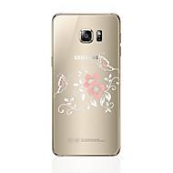 Недорогие Аксессуары для Samsung-Кейс для Назначение SSamsung Galaxy S8 Plus S8 Прозрачный С узором Кейс на заднюю панель Цветы Мягкий ТПУ для S8 Plus S8 S7 edge S7 S6