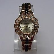 Dame Modeur Armbåndsur Quartz Legering Bånd Glitrende Punkt Elegant Sort Rose Guld