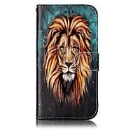 Кейс для Назначение SSamsung Galaxy A5(2017) A3(2017) Кошелек Бумажник для карт со стендом Флип Рельефный С узором Чехол Животное Твердый
