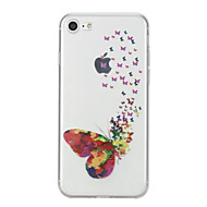 Недорогие Кейсы для iPhone 8 Plus-Кейс для Назначение Apple iPhone X iPhone 8 С узором Кейс на заднюю панель Бабочка Мягкий ТПУ для iPhone X iPhone 8 Pluss iPhone 8 iPhone