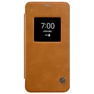halpa Puhelimen kuoret-LG g6 nillkin ikkunoita auto uni / läppä tapauksessa koko kehon asia yksivärinen kova PU nahka LG