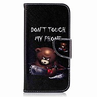 Недорогие Чехлы и кейсы для Galaxy A7(2017)-Кейс для Назначение SSamsung Galaxy A5(2017) A3(2017) Кошелек Бумажник для карт со стендом Флип С узором Чехол Животное Твердый