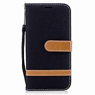 Недорогие Чехлы и кейсы для Galaxy А-Кейс для Назначение SSamsung Galaxy A5(2017) A3(2017) Кошелек Бумажник для карт со стендом Флип Магнитный Чехол Сплошной цвет Твердый
