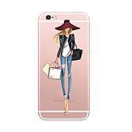 Назначение iPhone X iPhone 8 Чехлы панели Ультратонкий С узором Задняя крышка Кейс для Соблазнительная девушка Мягкий Термопластик для