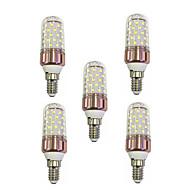 お買い得  LED コーン型電球-5個 9W 600lm E14 LEDコーン型電球 T 60 LEDビーズ SMD 2835 温白色 / ホワイト 85-265V