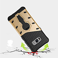 billige Galaxy S6 Edge Plus Etuier-Etui Til Samsung Galaxy S8 Plus S8 Stødsikker Med stativ 360° Rotation Bagcover Rustning Hårdt PC for S8 Plus S8 S7 edge S7 S6 edge plus