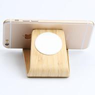 Stand de relógio de youzan para Apple Watch série 1 2 ipad iphone 7 6 6s mais 5s 5 5c 4 3 suporte de madeira all-in-1 cabo 38mm / 42mm não