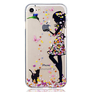 Case For Apple iPhone 7 / iPhone 7 Plus Pattern Back Cover Cat / Sexy Lady Soft TPU for iPhone 7 Plus / iPhone 7 / iPhone 6s Plus