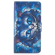 Недорогие Чехлы и кейсы для Galaxy A5(2017)-Кейс для Назначение SSamsung Galaxy A5(2017) A3(2017) Бумажник для карт Кошелек со стендом Флип Чехол Кот Твердый Кожа PU для A3 (2017)