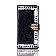 Недорогие Кейсы для iPhone 8-Кейс для Назначение Apple iPhone X iPhone 8 Бумажник для карт Кошелек Стразы со стендом Флип Чехол Твердый для iPhone X iPhone 8 Pluss