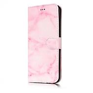 Недорогие Чехлы и кейсы для Galaxy S8 Plus-Кейс для Назначение SSamsung Galaxy S8 Plus S8 Бумажник для карт Кошелек со стендом Флип Чехол Мрамор Твердый Кожа PU для S8 Plus S8 S7