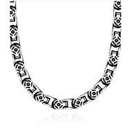 お買い得  -男性用 チョーカー  -  チタン鋼 ヴィンテージ シルバー ネックレス 用途 贈り物, 日常, カジュアル