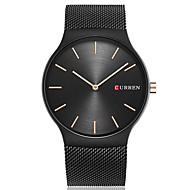 저렴한 -CURREN 남성용 독특한 창조적 인 시계 손목 시계 패션 시계 캐쥬얼 시계 석영 큰 다이얼 스테인레스 스틸 밴드 사치 캐쥬얼 미니멀리스트 우아한 멋진 블랙 골드