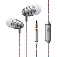 お買い得  -soyto KDK 204 耳の中 ケーブル ヘッドホン 動的 プラスチック 携帯電話 イヤホン ボリュームコントロール付き / マイク付き / ステレオ ヘッドセット