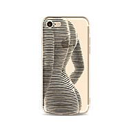 رخيصةأون -غطاء من أجل Apple iPhone X iPhone 8 Plus شفاف نموذج غطاء خلفي امرآة مثيرة ناعم TPU إلى iPhone X iPhone 8 Plus iPhone 8 فون 7 زائد فون 7