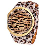 voordelige Modieuze horloges-Dames Unieke creatieve horloge Gesimuleerd Diamant Horloge Modieus horloge Chinees Kwarts imitatie Diamond Leer Band Glitter Snorren